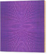 Moveonart Intentionally Intelligently Impressed Violet Therapy One Wood Print