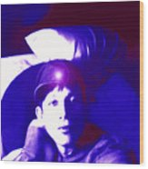 Moveonart Jacob In Blue Light Thinking Wood Print