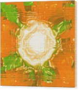 Moveonart Joy With Light In Orange Wood Print
