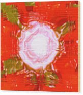 Moveonart Light Saturation With Red Wood Print