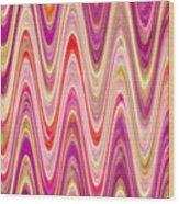 Moveonart Lively Waves Of Joy Wood Print