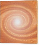 Moveonart Movement In Orange 3 Wood Print