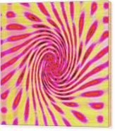 Moveonart Neon Twist 1 Wood Print