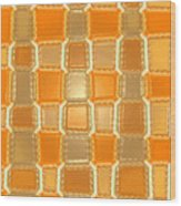 Moveonart Orange Bricks Wood Print