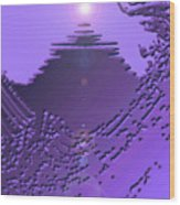 Moveonart Purple Memories Two Wood Print