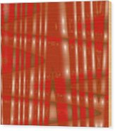 Moveonart Red Gold Protection Wood Print