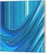 Moveonart The Blue Wave Wood Print