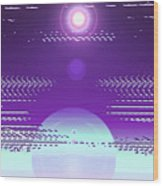 Moveonart Violet Light Of Charitable Consciousness Wood Print