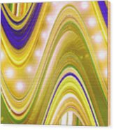 Moveonart Wave Of Enlightenment Four Wood Print
