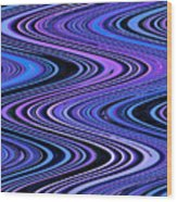 Moveonart Waves In Peaceful Movement Wood Print