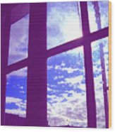 Moveonart Window Watching Series 4 Wood Print