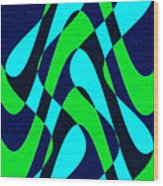 Moveonart Zen Waves Series 2 Wood Print
