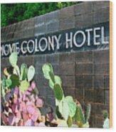 Movie Colony Hotel Palm Springs Wood Print