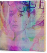 Movie Icons - Audrey Hepburn Vi Wood Print