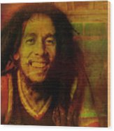Movie Icons - Bob Marley I Wood Print