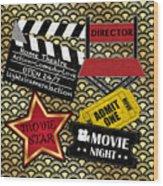 Movie Night-jp3613 Wood Print