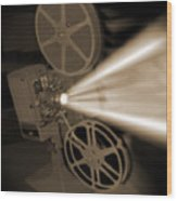 Movie Projector  Wood Print by Mike McGlothlen