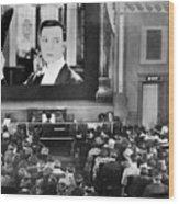 Movie Theater, 1920s Wood Print