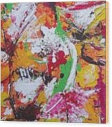 Moving Colors Wood Print