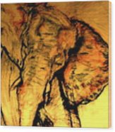 Moving Elephant Wood Print