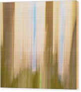 Moving Trees 15 Gold Brown Wood Print