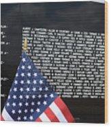 Moving Wall - Vietnam Memorial Wood Print