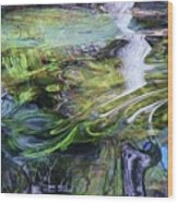 Moving Water Wood Print
