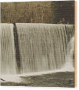 moving Waterfall Wood Print