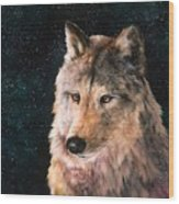 Moving Wolf Wood Print