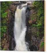 Moxie Falls Wood Print