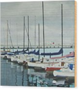 Mozells Boats Wood Print by Howard Stroman