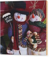 Mr. And  Mrs. Claus Wood Print