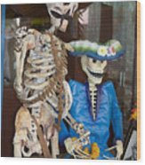 Mr And Mrs Death Wood Print