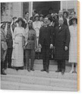Mr. And Mrs. Winston Churchill Wood Print by Everett