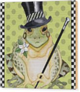 Mr. Beau Frog Wood Print