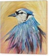 Mr. Blue Wood Print