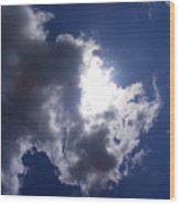 Mr Blue Sky Wood Print
