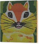 Mr Chipmunk Wood Print