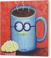 Mr. Coffee Wood Print