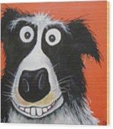 Mr Dog Wood Print