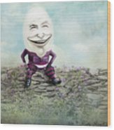 Mr. Egg Head Wood Print
