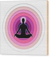 Meditation With Yoga Wood Print