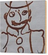 Mr Leopold Bloom Wood Print by Roger Cummiskey