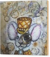 Mr. Mouse Wood Print