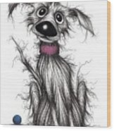 Mr Mucky Paws Wood Print