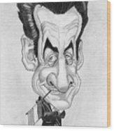 Mr Nicolas Sarkozi Caricatur Portrait Wood Print