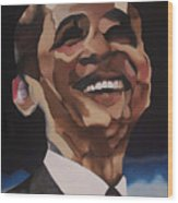 Mr. Obama Wood Print by Chelsea VanHook
