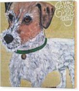 Mr. R. Terrier Wood Print