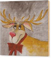Mr Reindeer Wood Print
