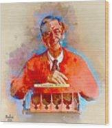 Mr. Rogers Wood Print